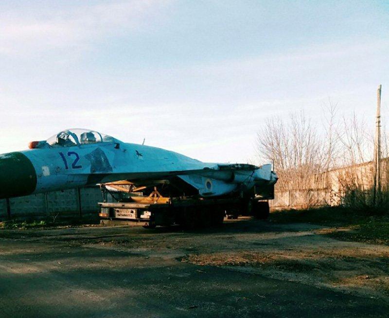 Следующий самолет Су-27 отправился в Запорожье на ремонт
