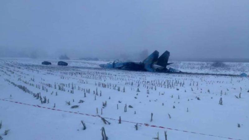 ГБР отрабатывает 5 версий катастрофы истребителя Су-27 в Житомирской области