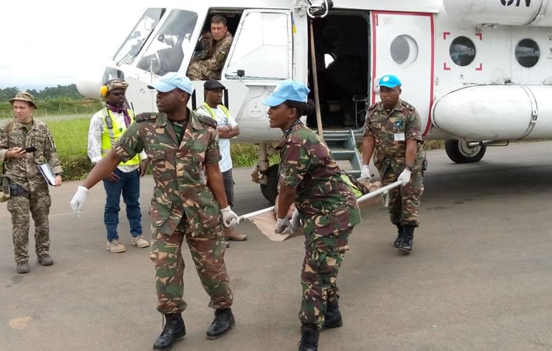 Украинские вертолетчики провели медэвакуацию в Конго