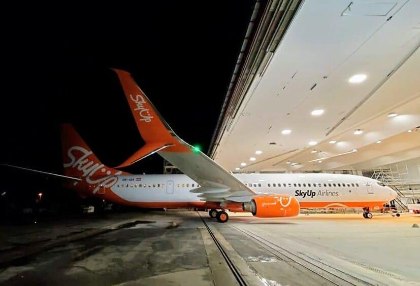 Десятый самолет SkyUp уже в ливрее авиакомпании