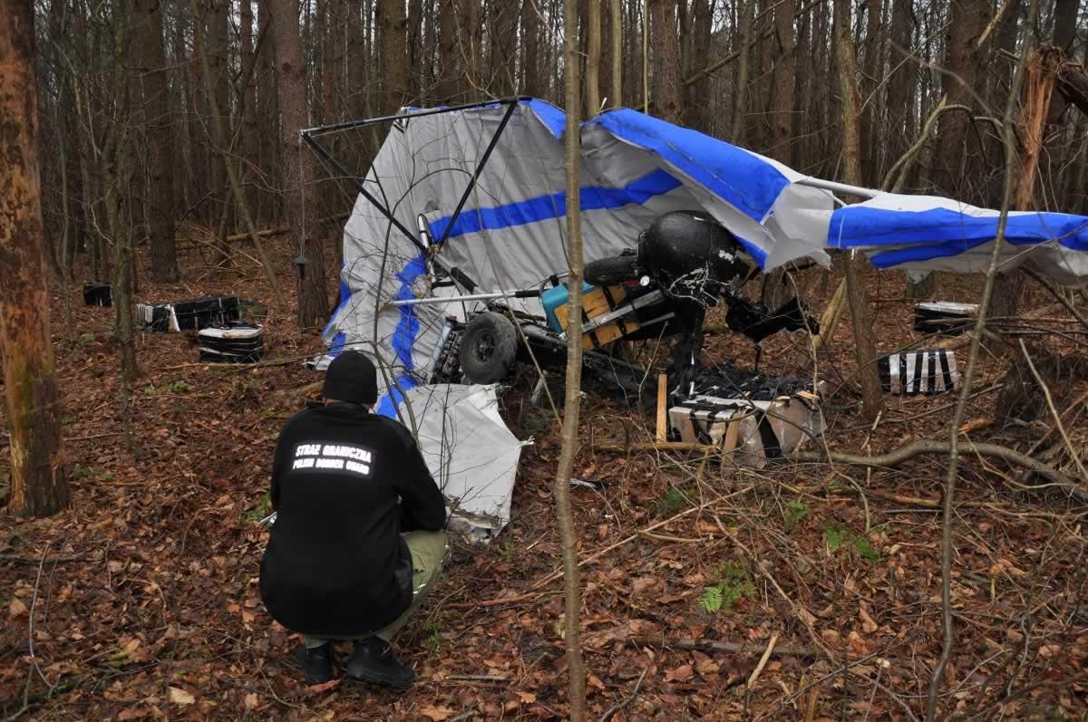 В Польше разбился украинский мотодельтаплан с контрабандой